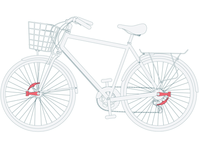 Reelight CPH+ - Lygtesæt - Backup m/blink og lang arm