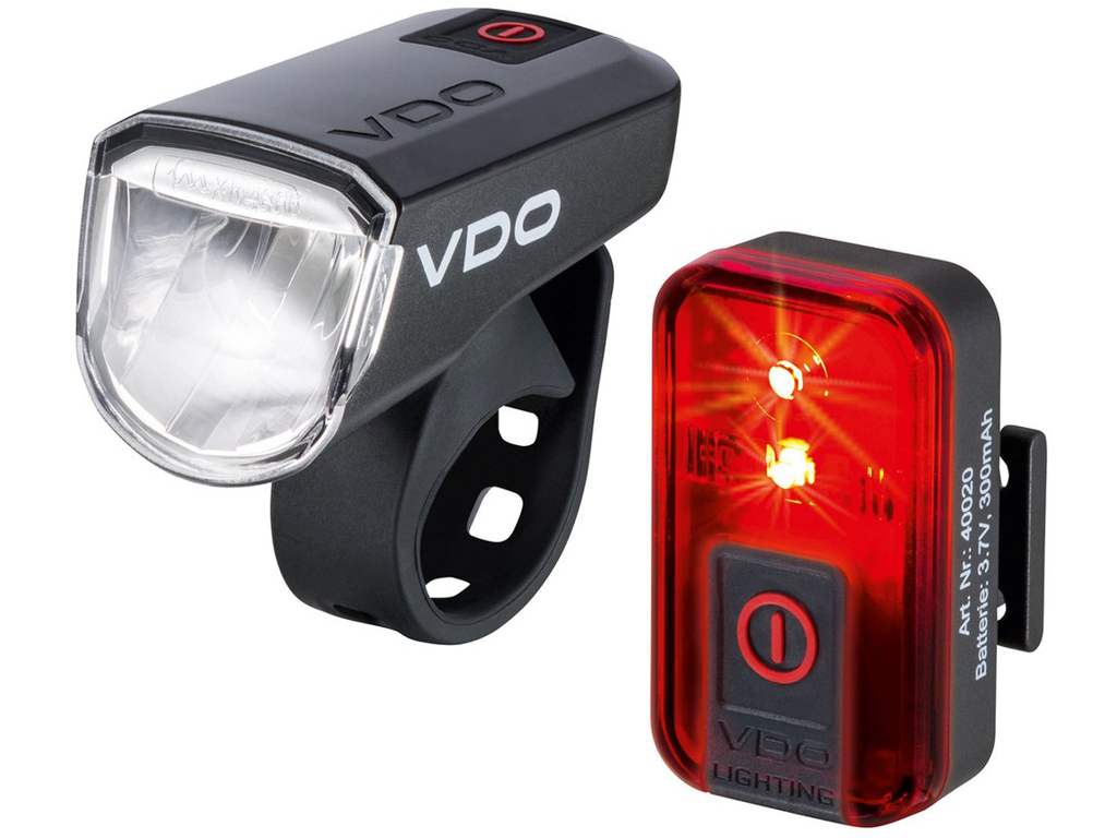 VDO Eco Light M30 - Lygtesæt - USB opladelig - 30 LUX | cykellygte