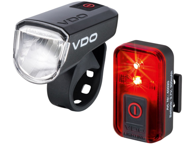 VDO Eco Light M30 - Lygtesæt - USB opladelig - 30 LUX