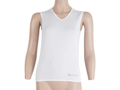 Sensor Coolmax Fresh Air - Svedundertrøje uden ærmer til damer - Hvid