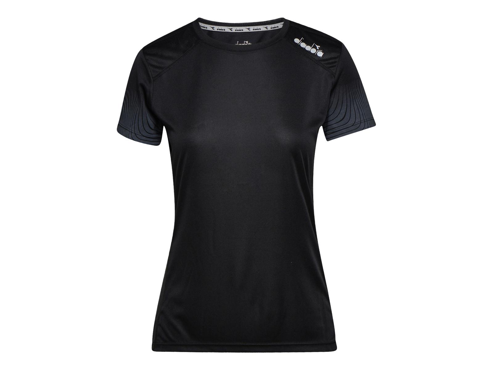 Diadora L. X Run SS T Shirt Løbe t shirt Dame Sort (DKK 51,60)