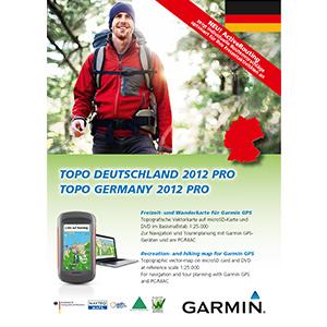 Topografiskkort Tyskland Garmin | Cycle maps