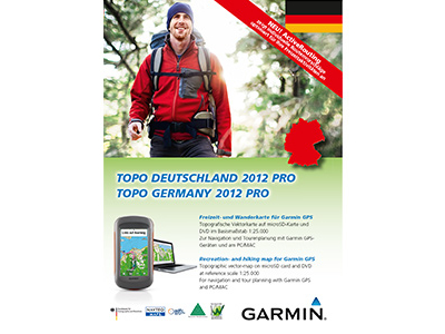 Topografiskkort Tyskland Garmin