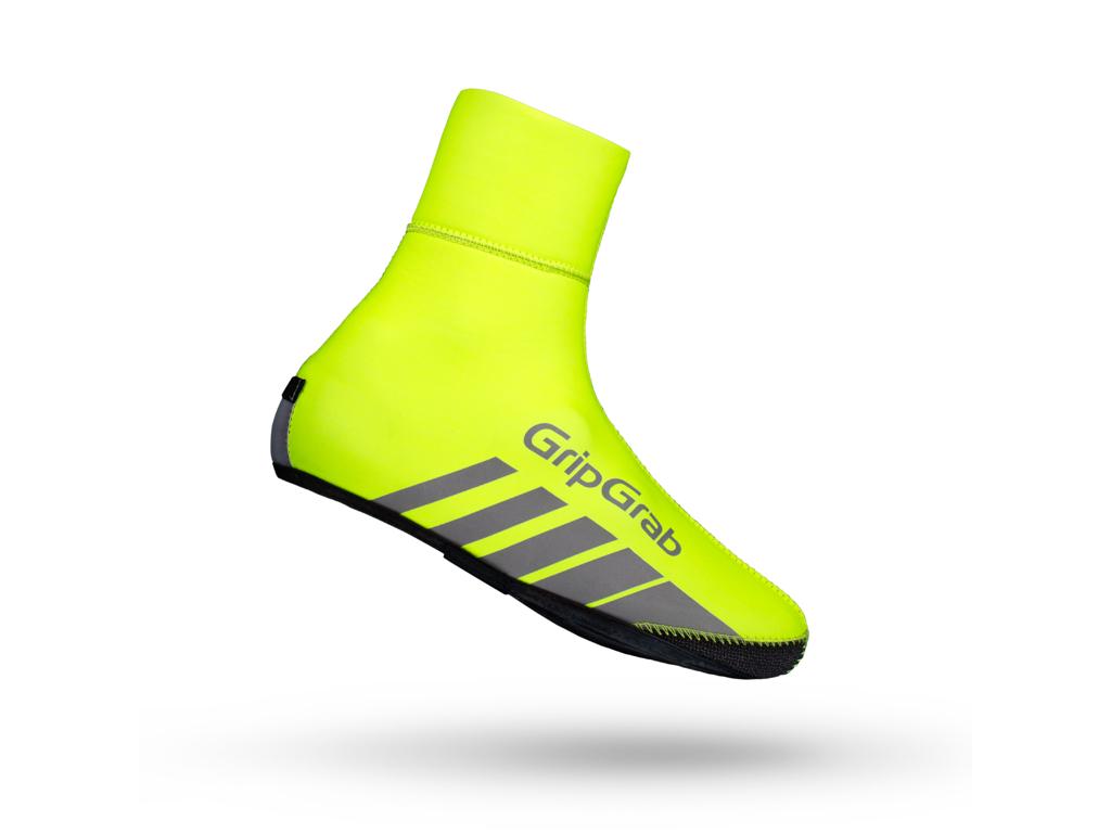 Image of   GripGrab Race Thermo - HI-VIS vind og vandtæt skoovertræk - Neon gul - Str. L
