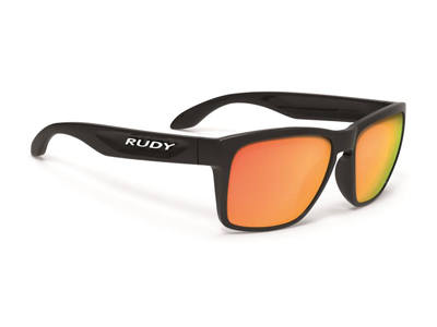 Rudy Project Spinhawk - Cykel- og Fritidsbrille - Sort Med Orange Glas