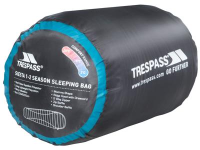 Trespass Siesta sovepose - 2 sæsoner - 230 x 85 x 55 cm - Kingfisher