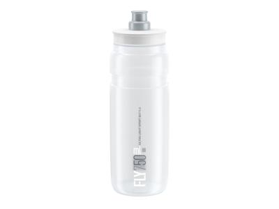 Elite Fly - Vattenflaska 750 ml  - 100% Biologiskt nedbrytbar - Transparent med grå logga