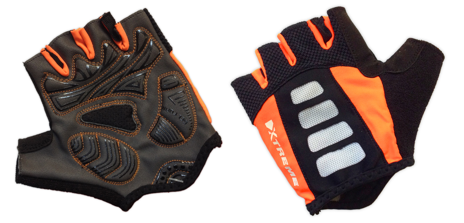 XTreme X-Guard - Cykelhandske - Sort/orange - Kort | Gloves