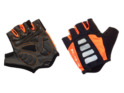 XTreme X-Guard - Cykelhandske - Svart/orange - Kort