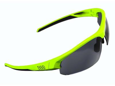 BBB Impress BSG-58 - Løbe- og cykelbrille - 3 sæt linser - Neongul