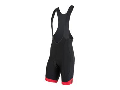 Sensor Cyklo Race - Bib shorts med kudde - Svarta/röda