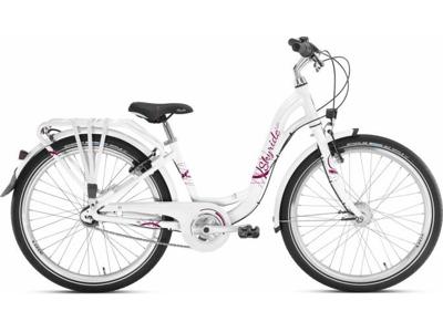 """Puky - Pigecykel - Skyride 24-7 Alu light - 24"""" med 7 gear - Hvid"""