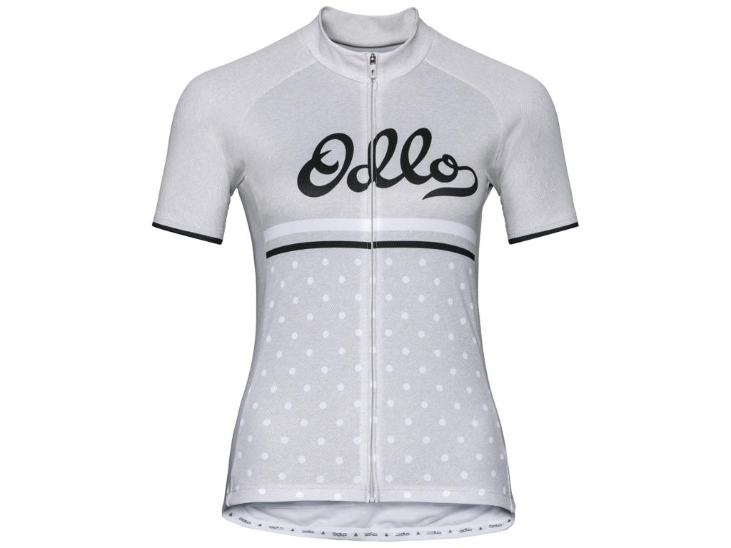 Image of   Odlo Element Print - Cykeltrøje med korte ærmer - Dame - Grå - Str. L