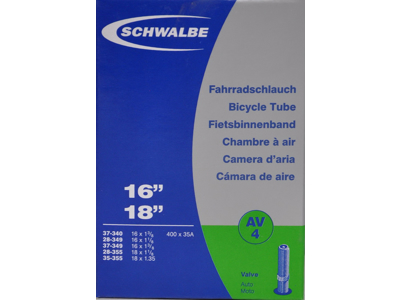 Schwalbe slange 16 x 1. 3/8 med Auto ventil AV4