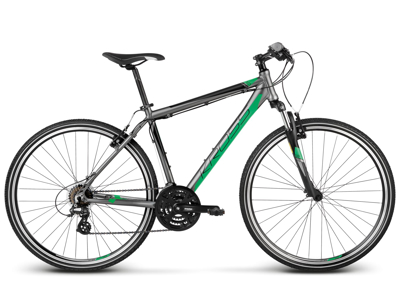 """Kross Evado 1.0 - Citybike - Herre - 21 gear - Str. 23"""" - Grå/grøn"""