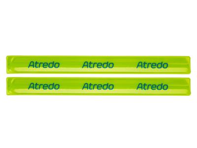 Atredo - Slap-wrap - Refleks buksebånd - Gul - 30 cm - 2 stk.