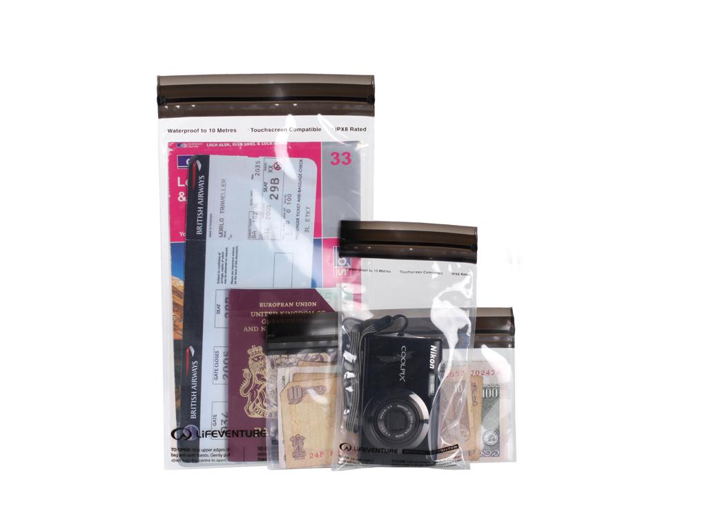 LifeVenture DriStore LocTop Bags - Vandtæt opbevaring til værdigenstande - 3 stk thumbnail