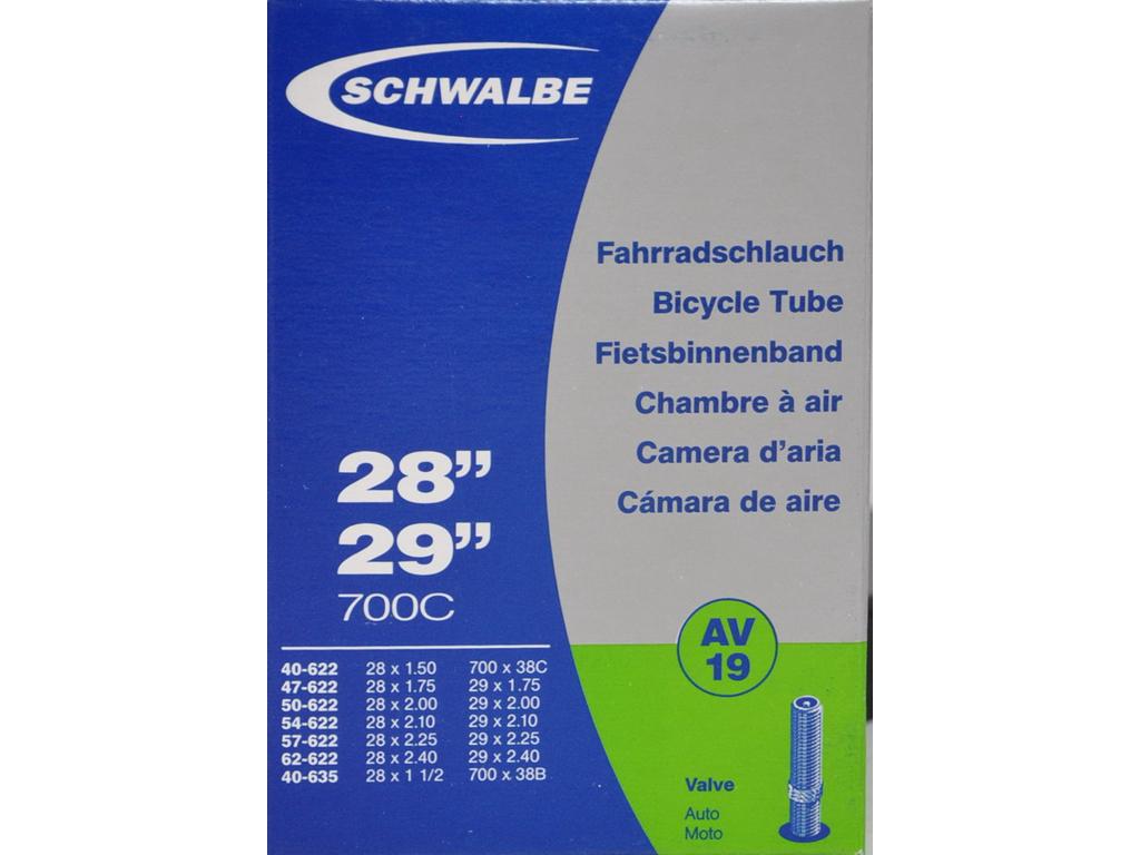 """Schwalbe slange 700 x 40-62c 27/29"""" med Auto ventil AV19 thumbnail"""