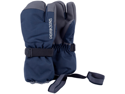 Didriksons Fossa Kids Three-Finger Gloves - Handske Børn - Navy