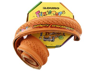 Duro - Fixie - Däck - Vikbart - 700 x 24c - Orange