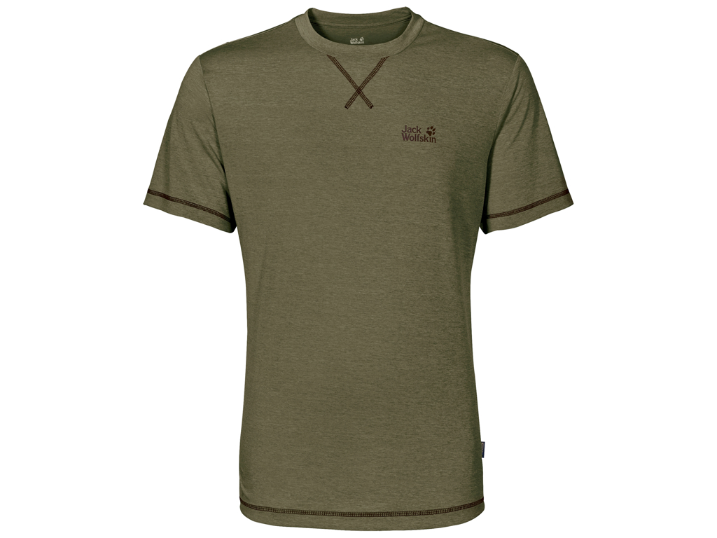 Image of   Jack Wolfskin Crosstrail T - T-Shirt Hr. Str. M - Burnt olive