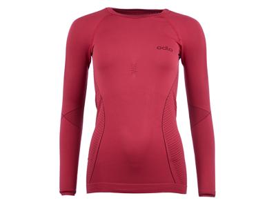 Odlo Evolution Warm - Langærmet bluse med rund hals til dame - Bordeaux