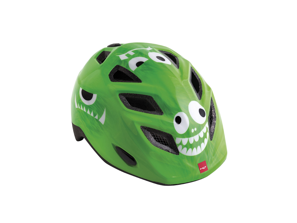 MET Elfo / Genio - Cykelhjälm - Grönt monster