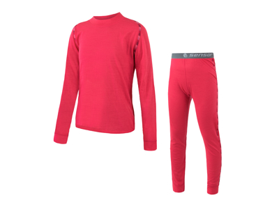 Sensor Merino Air Set JR - Ski undertøy for barn - Merino Ull - Magenta