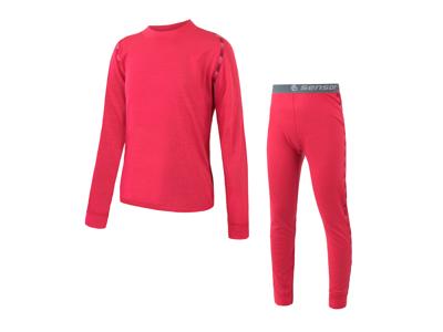 Sensor Merino Air Set JR - Skidunderkläder till barn - Merino Ull - Magenta - Str. 100