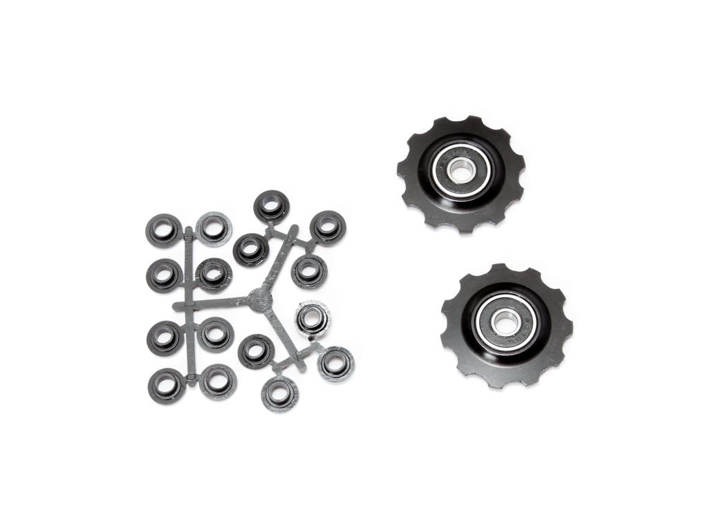 Image of   Pulleyhjul 11 tands i aluminium sort med lukkede lejer - Shimano 9 og 10 gear
