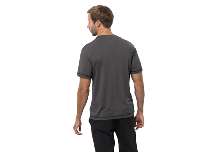 Jack Wolfskin Crosstrail T - T-Shirt - Herre - Koksgrå