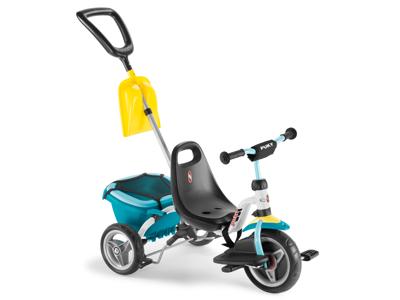 Puky Cat 1 SP - Tricykel - Trehjulet med lad og skubbestang - Hvid/mint