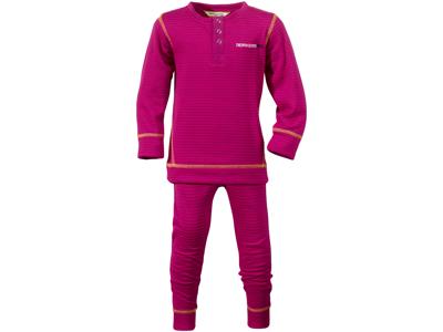 Didriksons Moarri Kids - Skidunderkläder - Lila Randiga