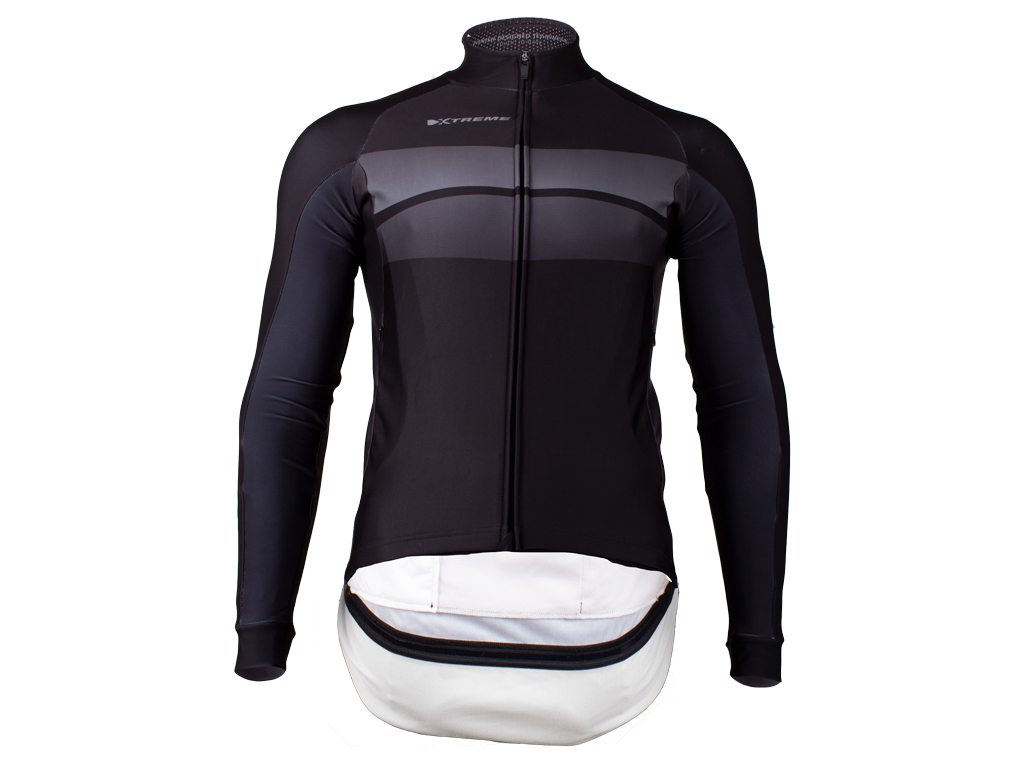 Image of   Xtreme Elite Storm E-Vent - Vindtæt cykeltrøje - Sort - Str. 2XL