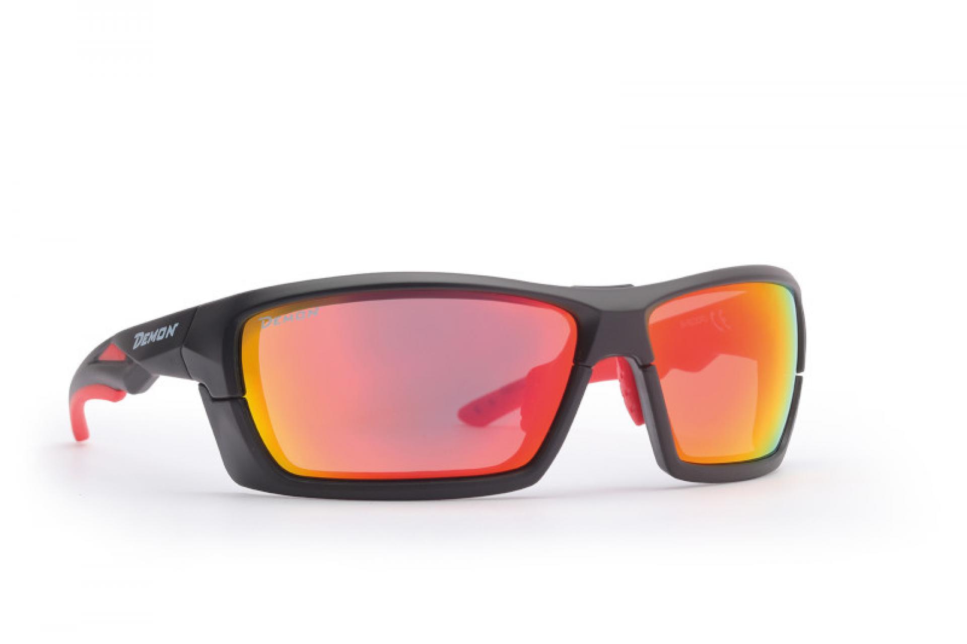 Demon Record DCHANGE - Løbe- og cykelbrille med 3 sæt linser - Matsort   Glasses