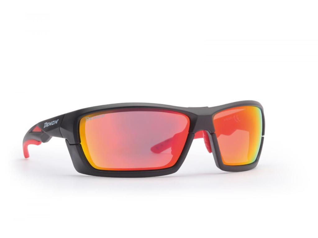 Image of   Demon Record DCHANGE - Løbe- og cykelbrille med 3 sæt linser - Matsort