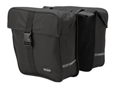 Atredo - Dobbelttaske til E-bike - Til bagagebærer - Elcykel - 25 Liter - Sort