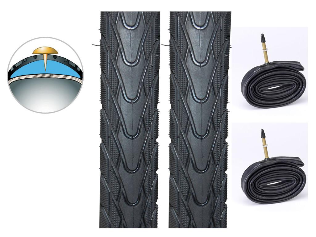 2 dæk og slanger 26x1,75 Panaracer Tourguard Plus - 4,5mm gummi indlæg thumbnail