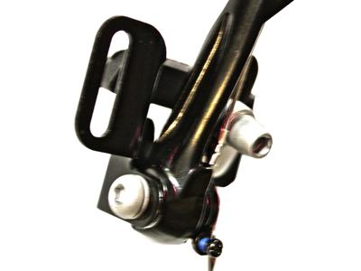 Lygteholder til montering ved V-bremsen