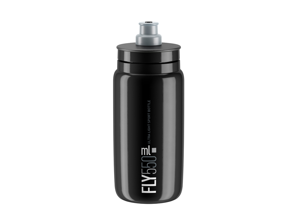 Image of   Elite Fly - Drikkedunk 550ml - 100% Biologisk nedbrydelig - Sort med grå logo