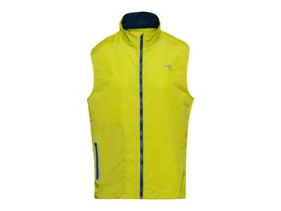 Diadora Vest - Running Vest Men - Hi-Vis Green