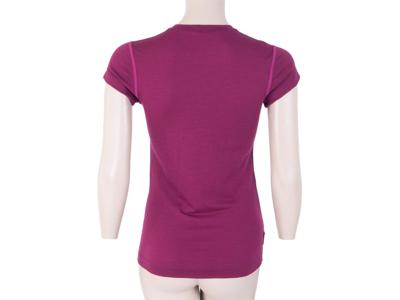 Sensor Merino Active - Uld T-shirt med korte ærmer - Dame - Lilla