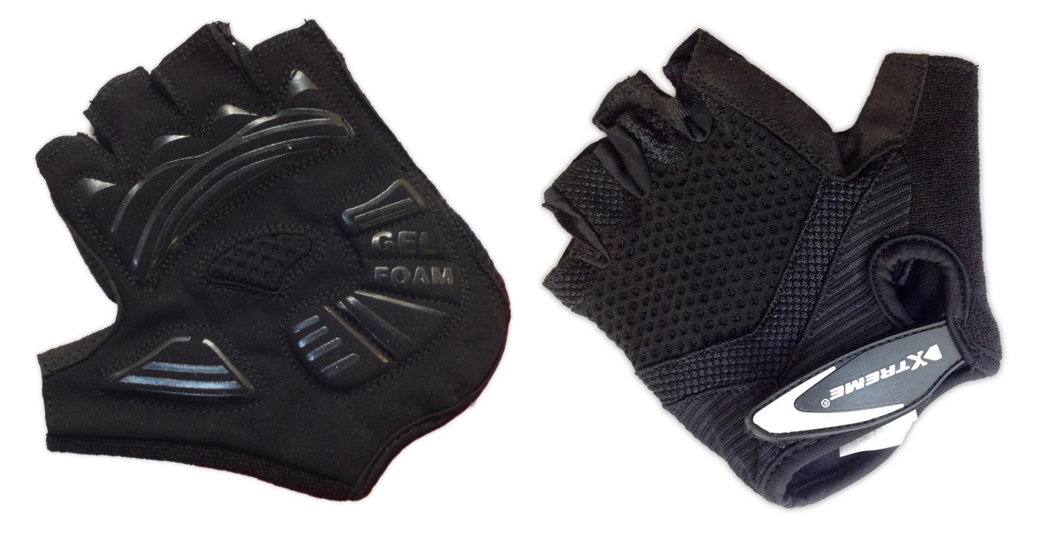 XTreme X-Basic - Cykelhandske med gel - Sort - Kort | Gloves