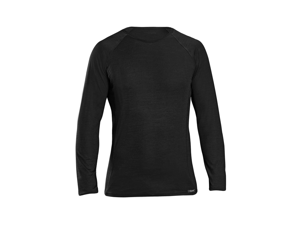 Image of   GripGrab Merino Polyfiber Base Layer - Svedundertrøje L/Æ - Sort - Str. L