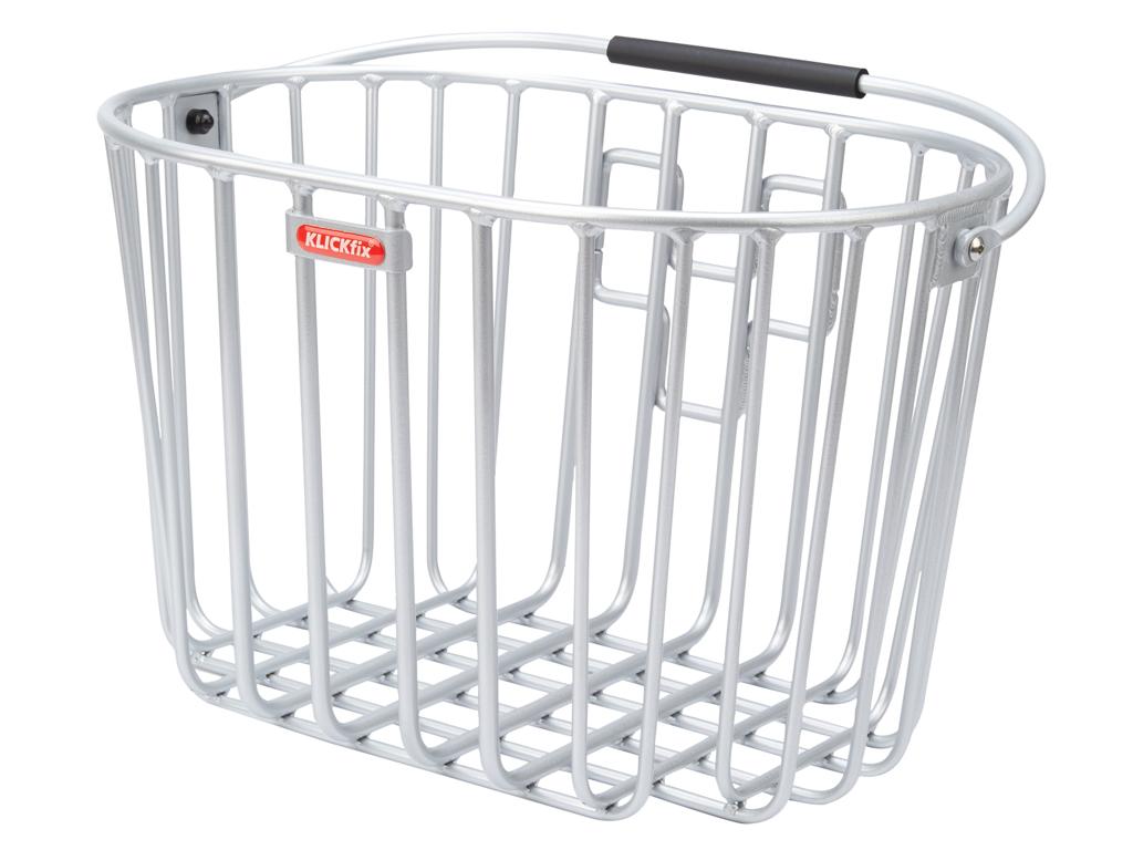 Klickfix cykelkorg i aluminium till styr montering - Silver