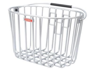 Klickfix cykelkurv i aluminium til styr montering - Sølv