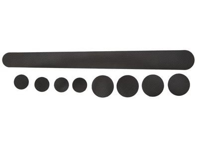 Atredo - Stelbeskytter - Sæt med 9 stk - Sort