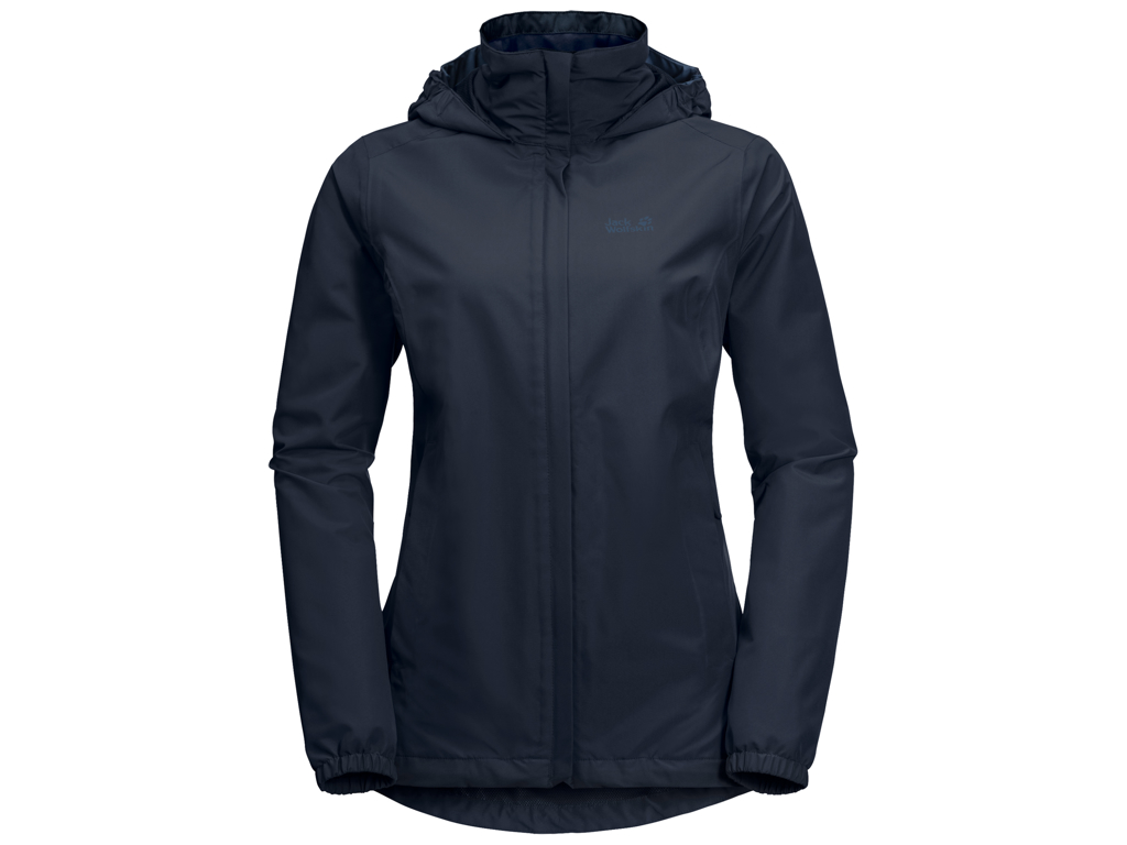 Image of   Jack Wolfskin Stormy Point Skaljakke - Dame Str. L - Midnight blue