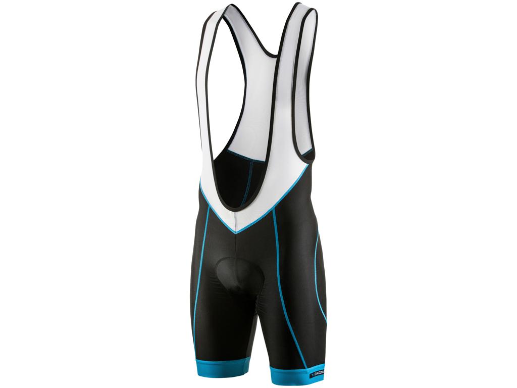 Diadora - Cykelbuks Fabio - med prof pude og seler - Str. XL - Sort med blå thumbnail