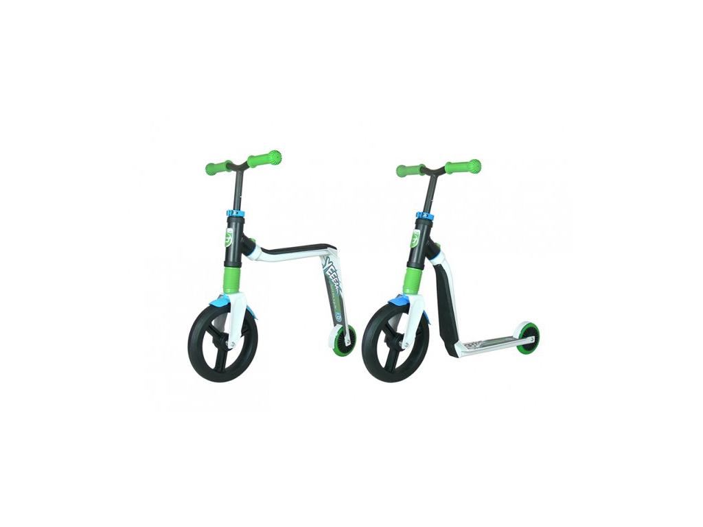 Image of   Scoot&Ride 2 i 1 løbehjul og løbecykel - Highway Freak - Hvid/Grøn/Blå